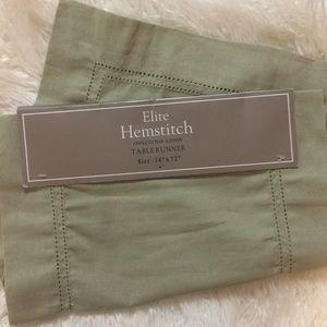 Other - Hemstitch Runner Sage Green